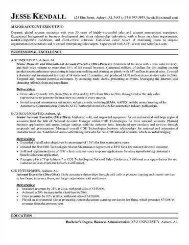 advertising account executive. executive mba resume examples ...