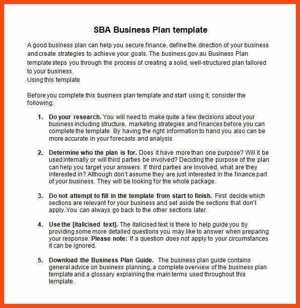 simple business plan template word | program format