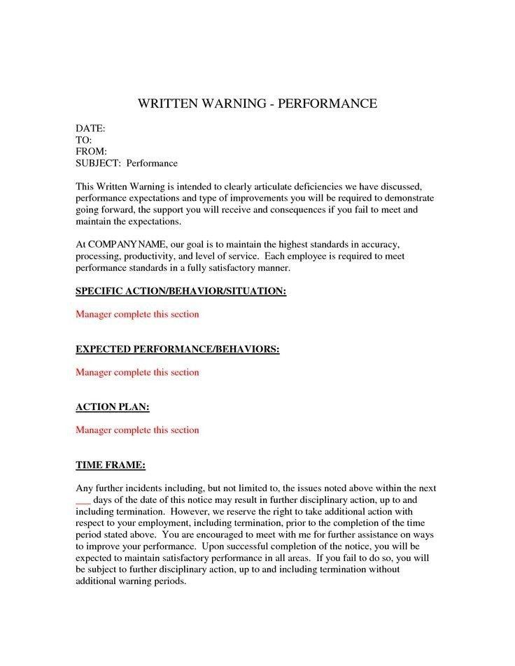 Written Warning Template | peerpex