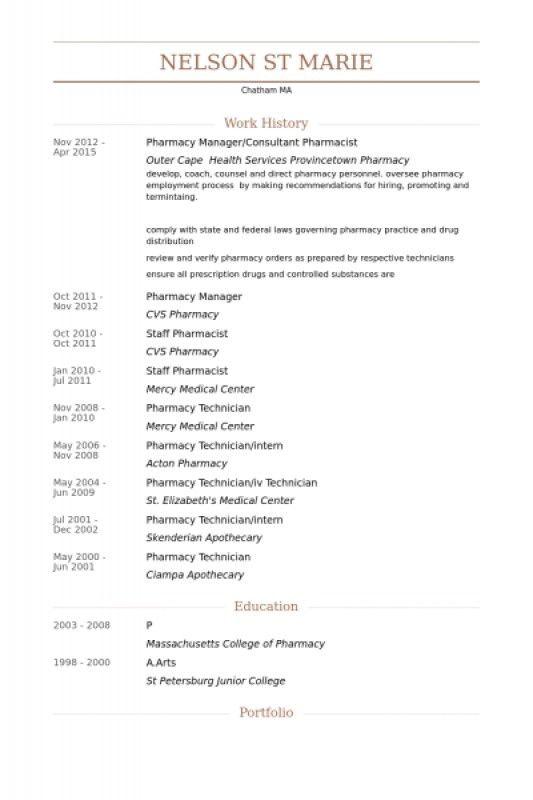 Pharmacy Intern Resume – Resume Examples