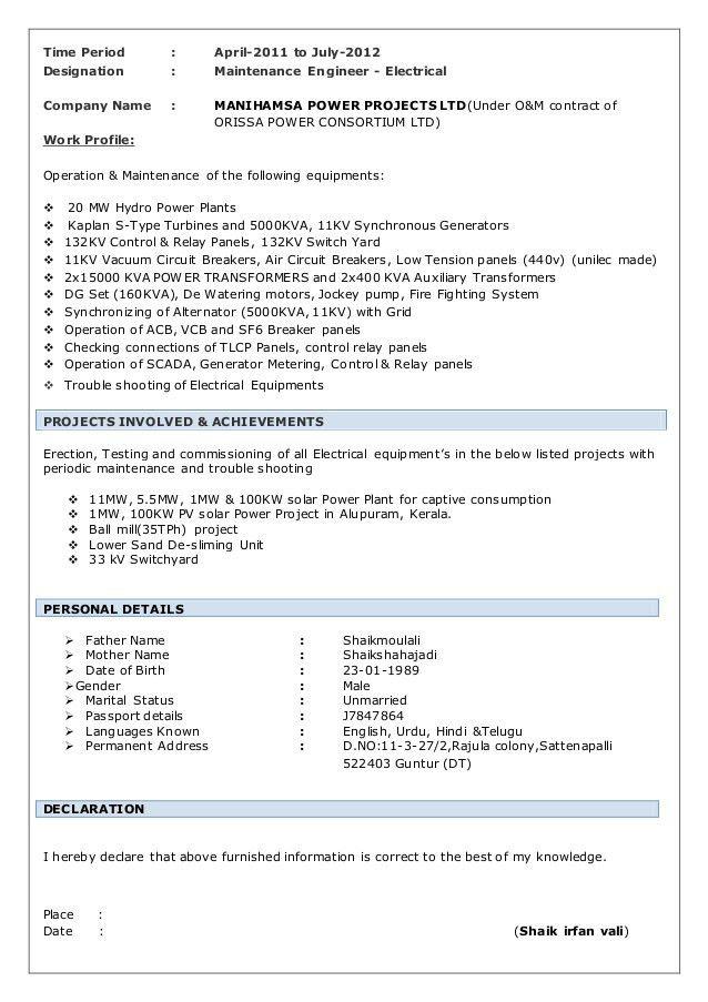 SHAIK IRFAN VALI resume (solar)