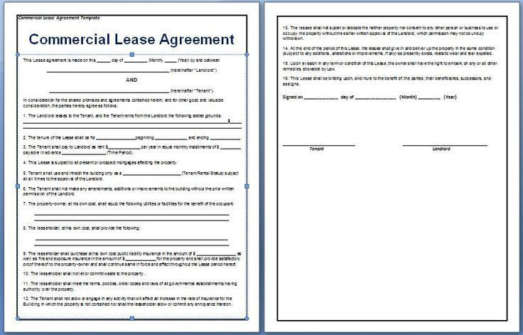 Great Lease Space For Business Offer To Lease Form With Sample ...