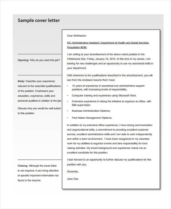 39+ Free Cover Letter Samples | Free & Premium Templates