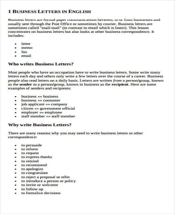 Business E-mail Format | Free & Premium Templates