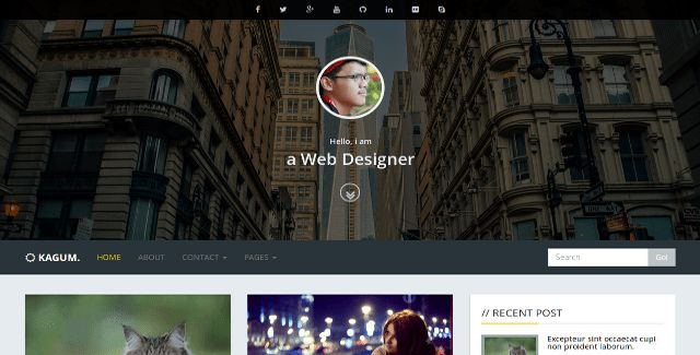 Bootstrap Blog Templates - BootstrapBay