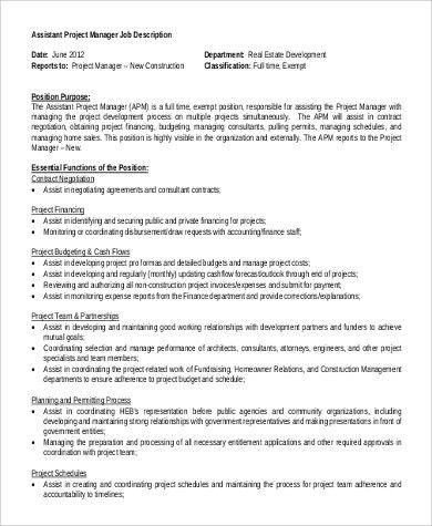 Assistant Engineer Job Description Sample   8+ Examples In PDF