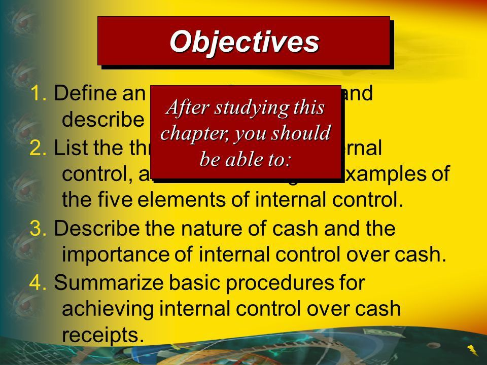 Chapter 6 Accounting Systems, Internal Controls, and Cash - ppt ...