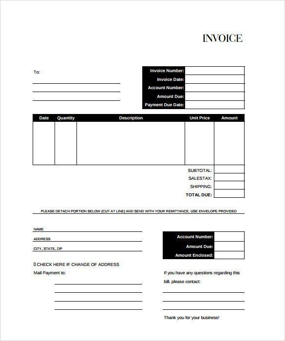 Billing Invoice Template. Free Billing Invoice Template Billing ...