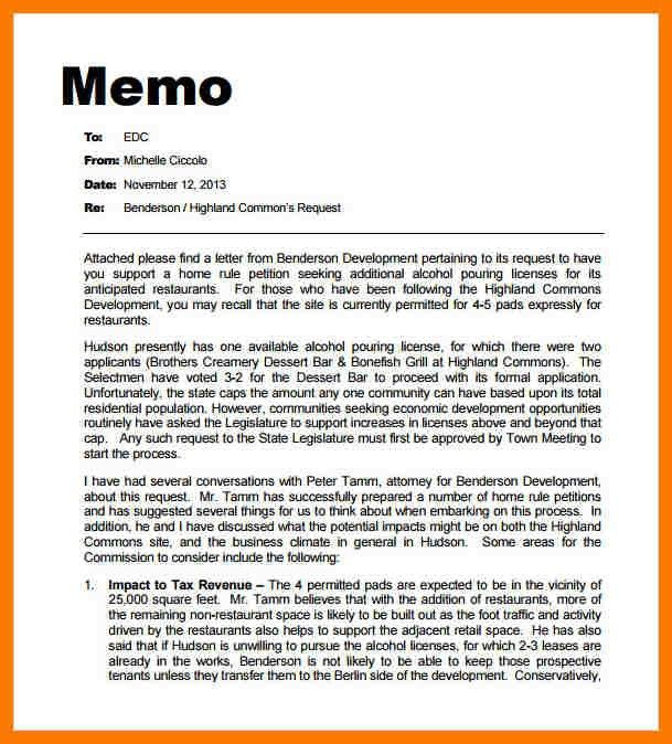 Professional Memo Format Template - formats.csat.co