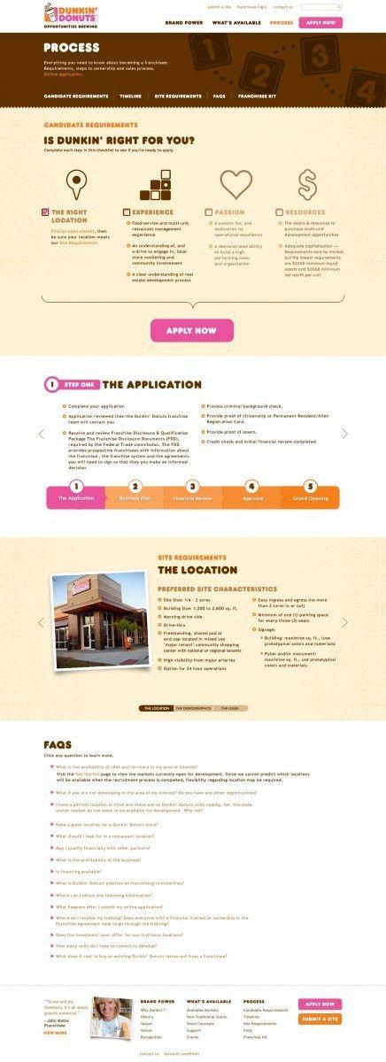 "Dunkin' Donuts - ""Dunkin' Donuts Franchising Website"""