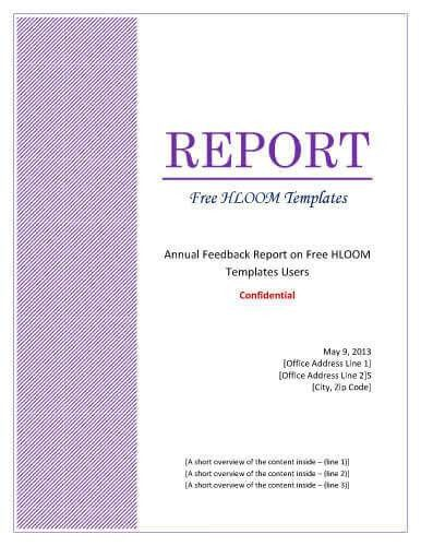 7 Report Cover Page Templates [for Business Documents]