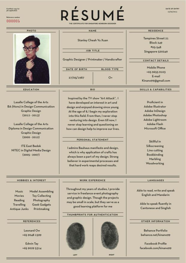 Fantastic Examples of Creative Resume Designs and Great Resume ...