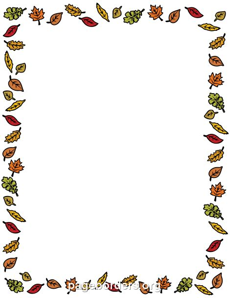 Fall Leaves Border: Clip Art, Page Border, and Vector Graphics