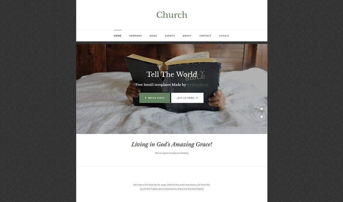 14 Best Free Church Website Templates 2017 - Colorlib