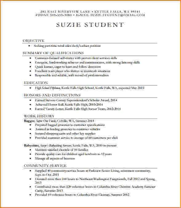 7+ high school resume sample   bibliography format