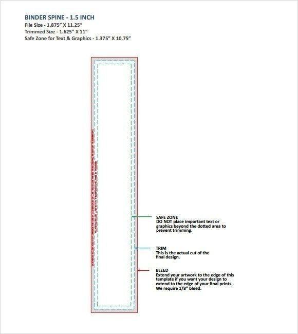 1.5 Binder Spine Template | Template Idea