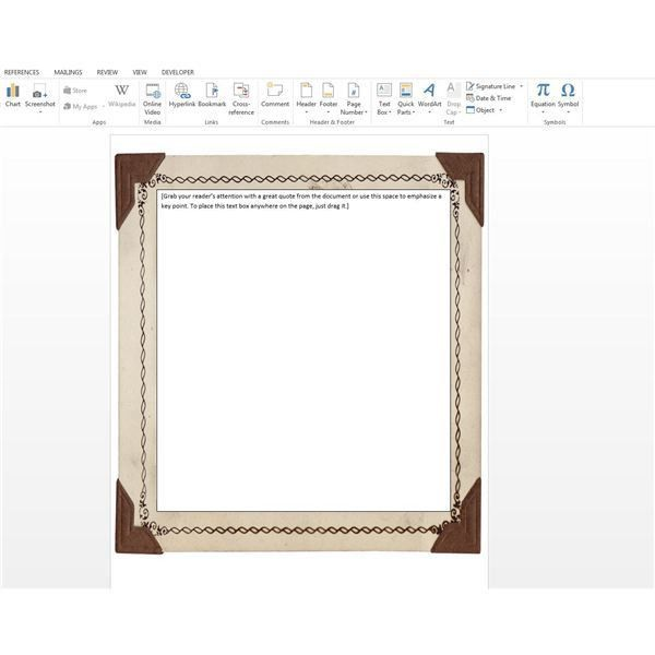 How To Add Free Borders Clip Art Microsoft Word Documents for ...