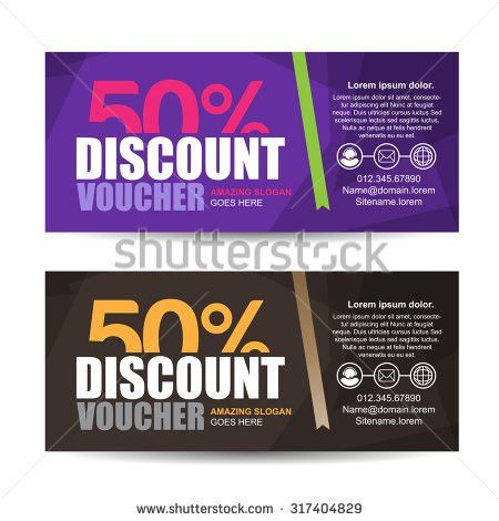 Vector Illustrationgift Voucher Template Colorful Patterncute ...