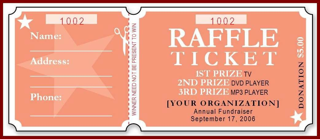 11+ raffle tickets template word | sendletters.info