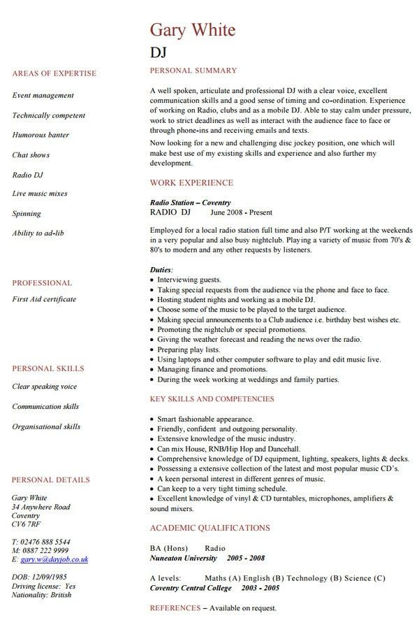 10+ Media Resume Templates - Free Word, PDF, PSD, AI