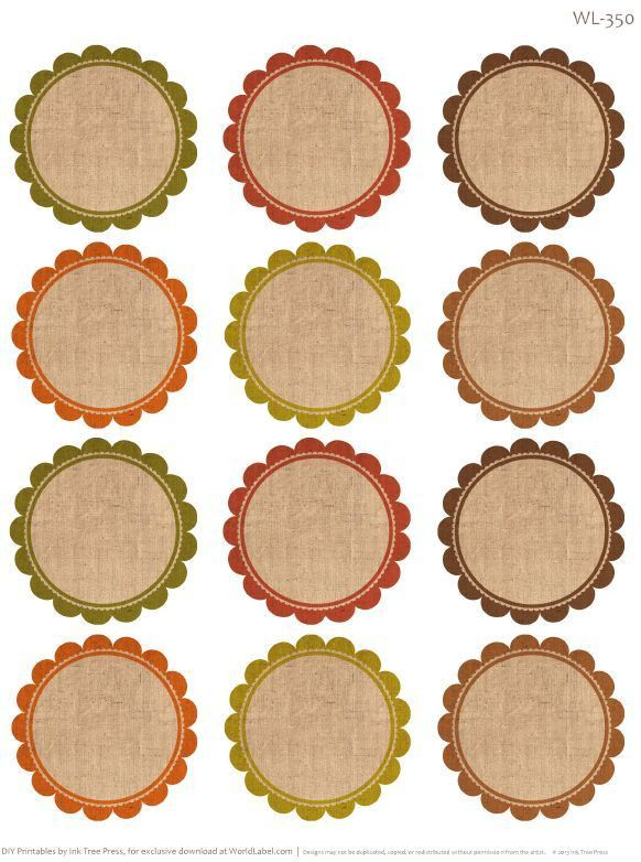 16 best Round Labels and Round Label Template Printables images on ...