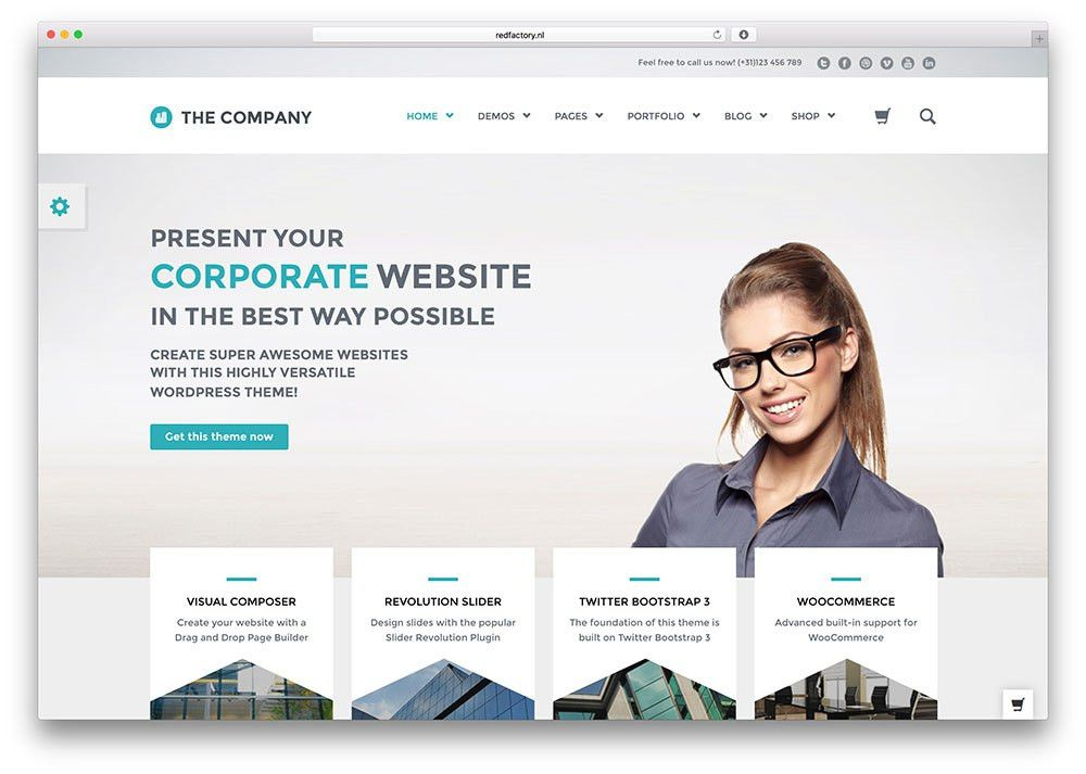 40+ Best WordPress Corporate Business Themes of 2017 - colorlib