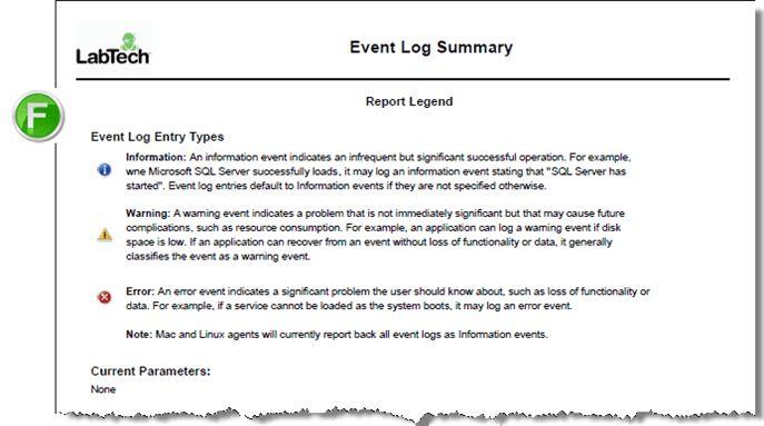 Event Log Summary Report