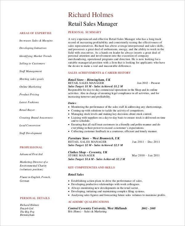 Sales Manager Resume. Click Here To Download This National Sales ...