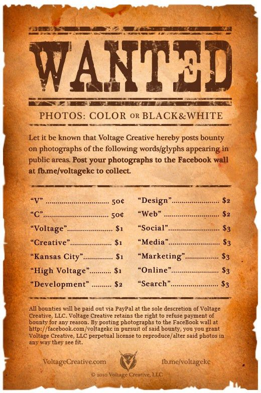 Words wanted Poster - Agency Paying Cash Bounty for Word P… | Flickr
