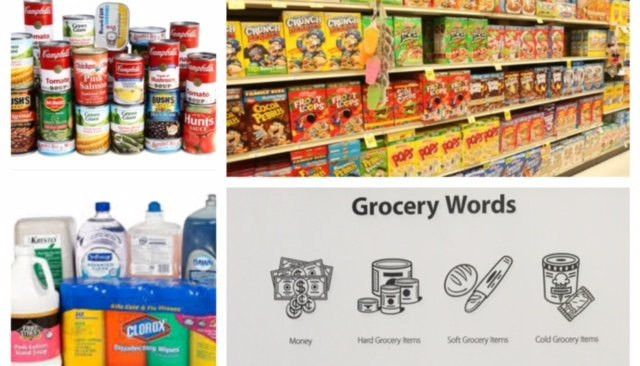 Real Life Images From Grocery Words To Life!! | Angela Felice .  Grocery Words
