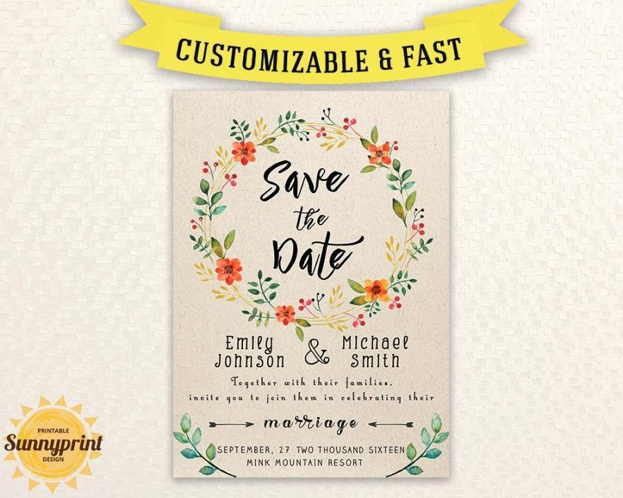 Printable Save The Date Template - Save The Date Printable - Save ...