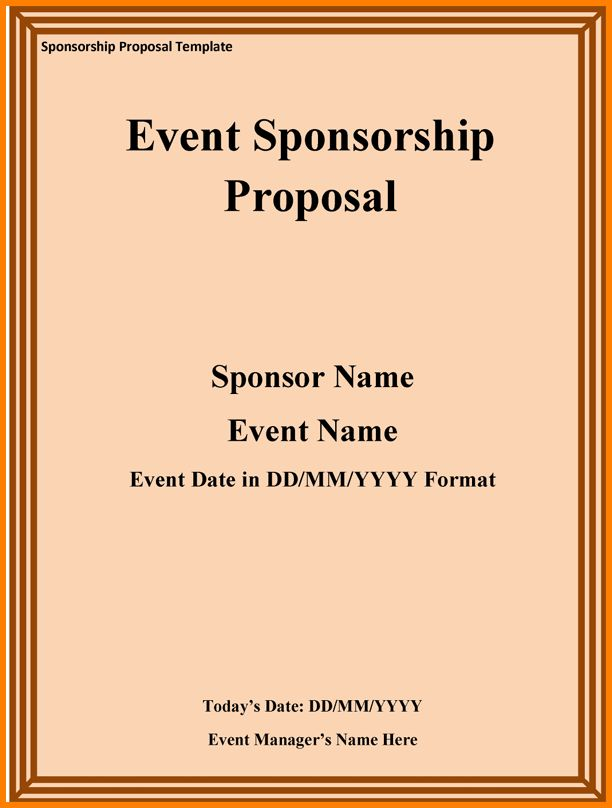 9+ event sponsorship proposal template free | Proposal Template 2017