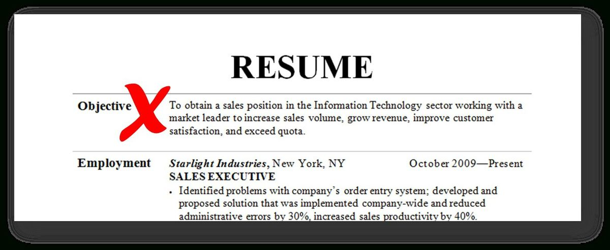 Basic Resume Objective Examples | Template Design