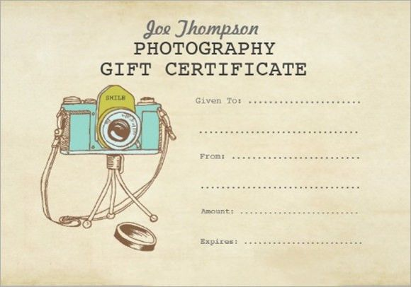 Photography Gift Certificate Template - 8+ Download Documents in ...
