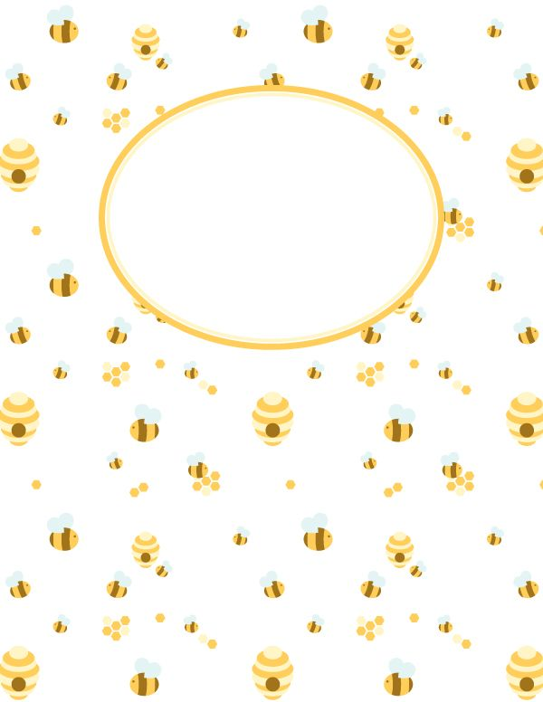 Free printable bee binder cover template. Download the cover in ...