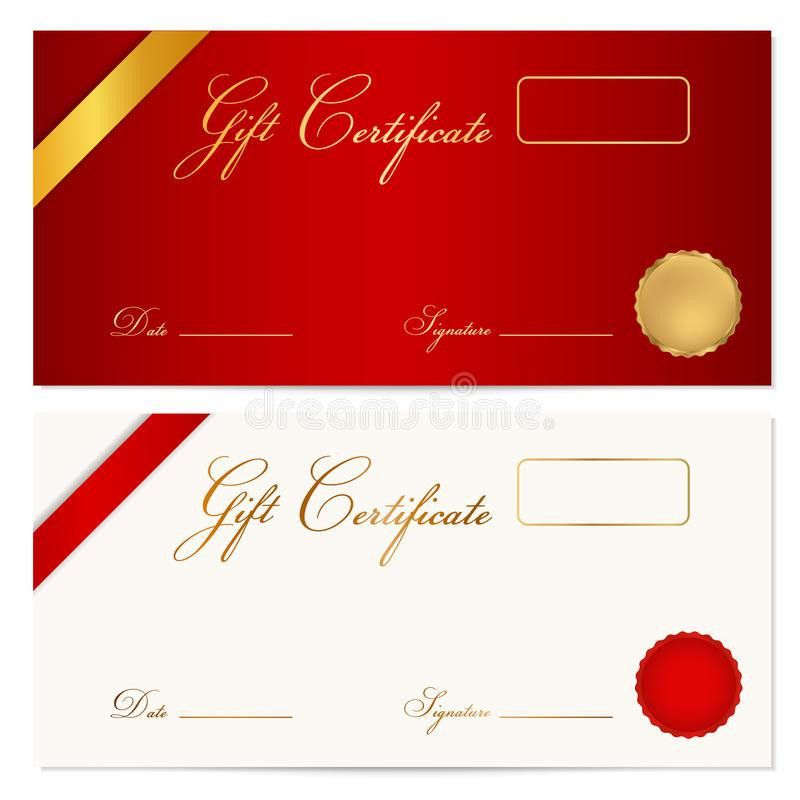 Gift Certificate (Voucher) Template. Wax Seal Royalty Free Stock ...