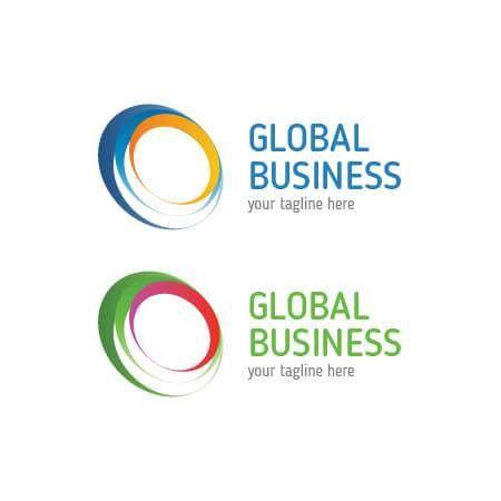 Global Business Logo Template! Suitable for transportation ...