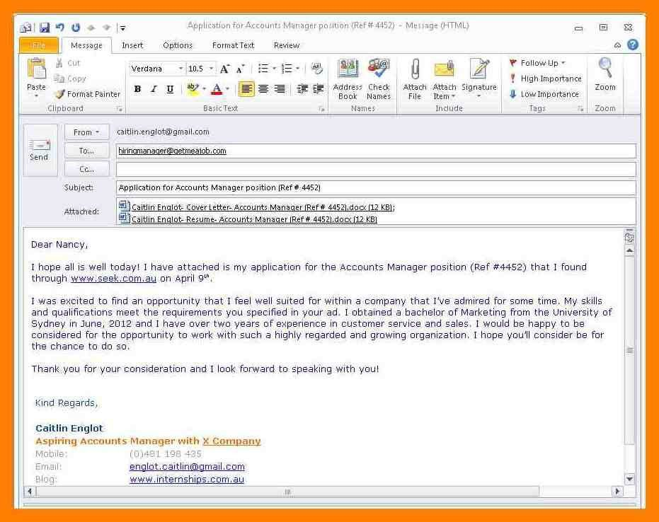 email resume sample message 6 easy steps for emailing a resume