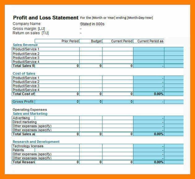 4+ simple profit loss statement | attendance sheet