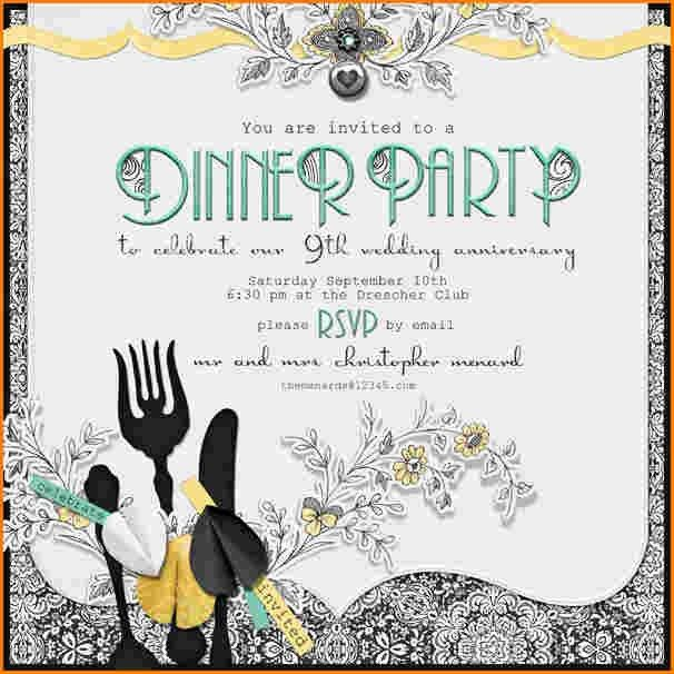 11+ dinner party invitation template | worker resume
