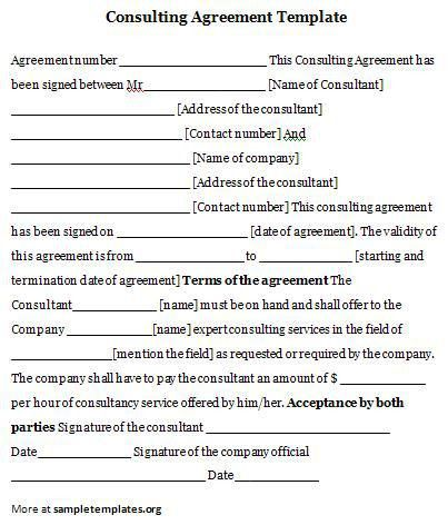 Consulting Agreement Template #consulting #agreement #template ...