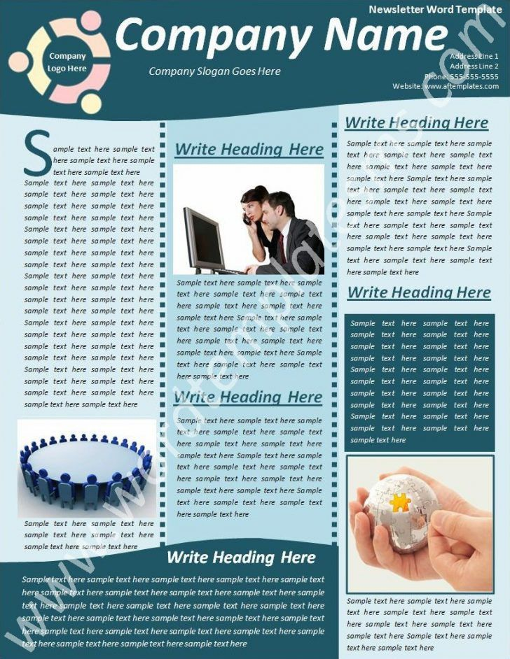 Fresh Free Microsoft Word Newsletter Templates | pikpaknews