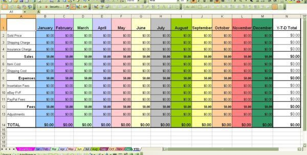 Excel Profit And Loss Worksheet   Samples.csat.co
