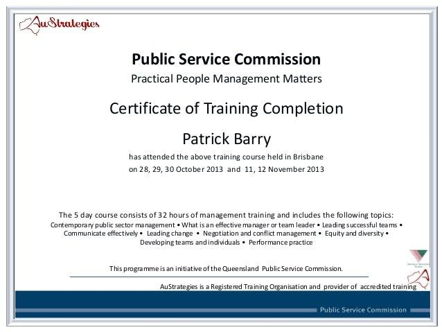 PPMM_ Certificate of Training Attendance Patrick Barry