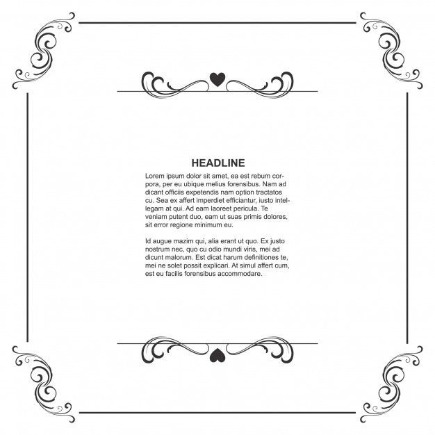 Floral frame template with space for text Vector | Free Download