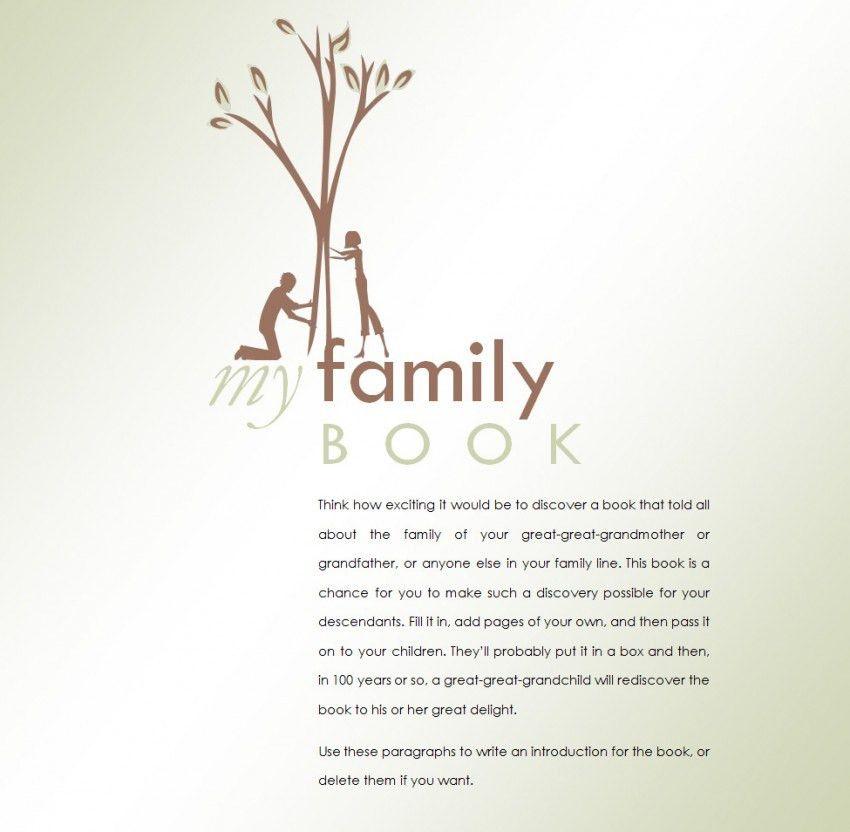 Family Reunion Booklet Template - Contegri.com