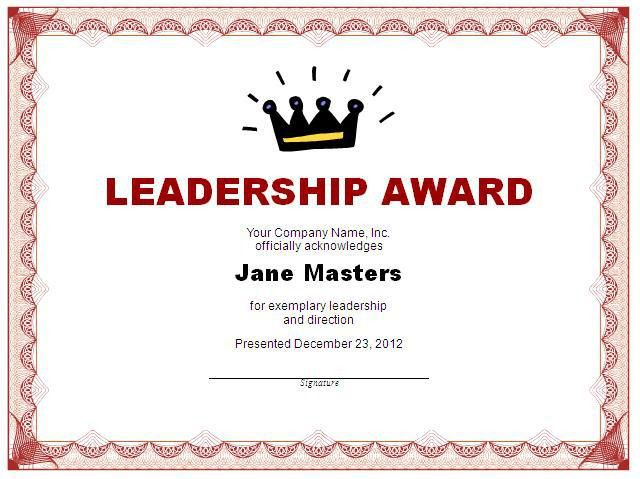 Leadership Certificate Template | Free Layout & Format
