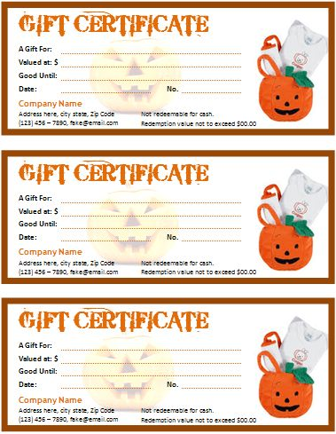 Halloween Gift Certificate for Word | Office Templates Online