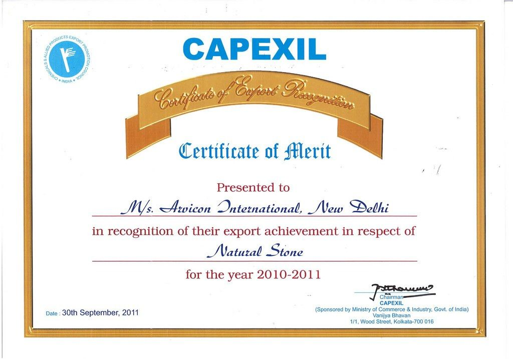 Certificate Of Merit form CAPEXIL | Certificate Of Merit for… | Flickr