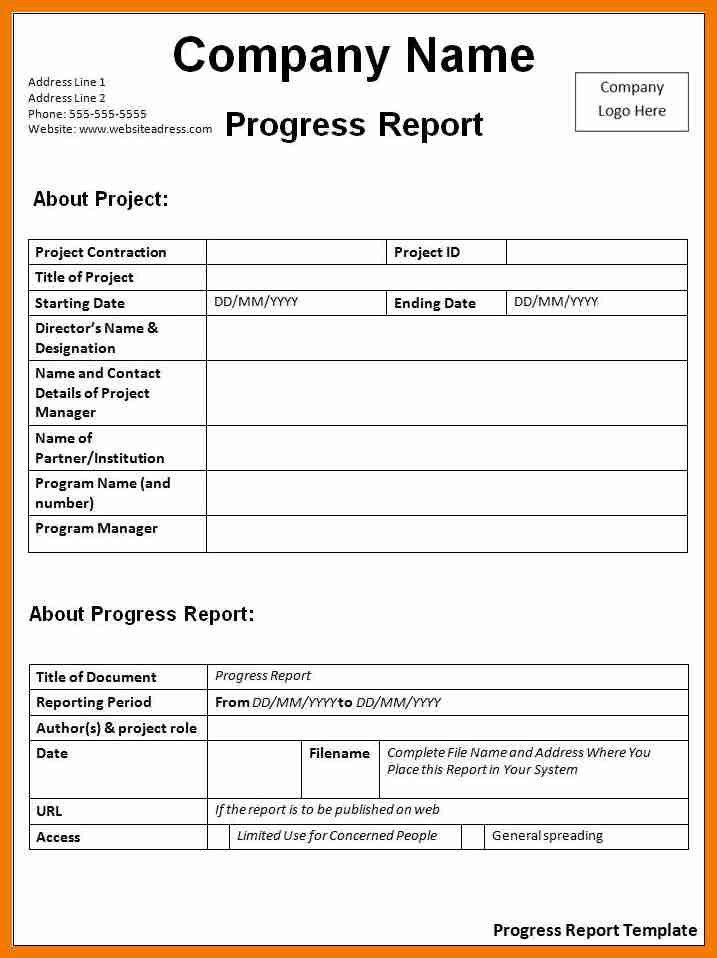 7+ progress report template | resume holder